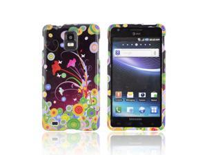 Samsung Infuse 4G Case, [Rainbow Flower Art] Slim & Protective Crystal Glossy Snap-on Hard Polycarbonate Plastic Case