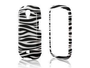 Slim & Protective Hard Case for Samsung Stratosphere 2 - Black / White Zebra
