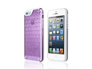 Ozone Bee Hive Protective Case for iPhone 5 - White / Purple
