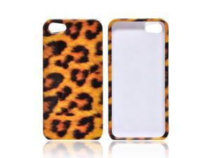 Apple iPhone 5 Case, [Brown Leopard] Slim & Protective Crystal Glossy Snap-on Hard Polycarbonate Plastic Case Cover