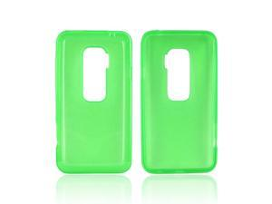 Green Crystal Hard Crystal TPU Silicone Case Cover For HTC EVO 3D