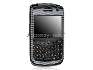 Blackberry Curve 8900 Case, [Gray Carbon Fiber] Slim & Protective Crystal Glossy Snap-on Hard Polycarbonate Plastic Case