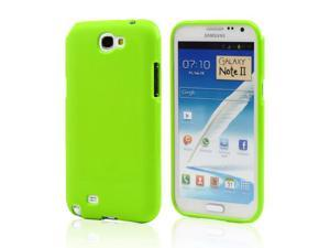 Samsung Galaxy Note 2 Case, [Lime Green] Slim & Flexible Anti-shock Crystal Silicone Protective TPU Gel Skin Case Cover