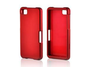 Blackberry Z10 Case, [Red] Slim & Protective Rubberized Matte Finish Snap-on Hard Polycarbonate Plastic Case Cover