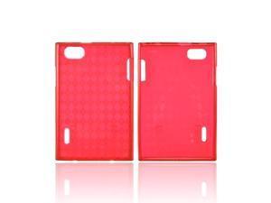 Argyle Red LG Optimus Vu VS950 Crystal Silicone Case