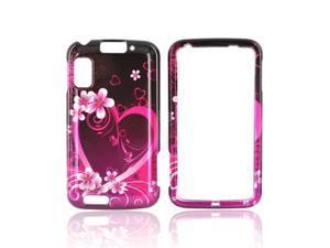 Slim & Protective Hard Case for Motorola Atrix 4G - Pink / Purple Flowers & Hearts