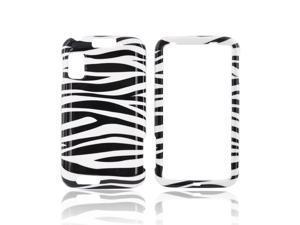 Slim & Protective Hard Case for Motorola Atrix 4G - White / Black Zebra