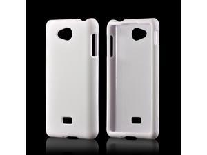 White Rubberized Hard Plastic Case Snap On Cover For LG Spirit 4g