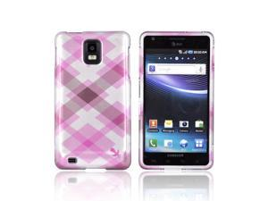 Slim & Protective Hard Case for Samsung Infuse i997 - Pink / Silver Plaid