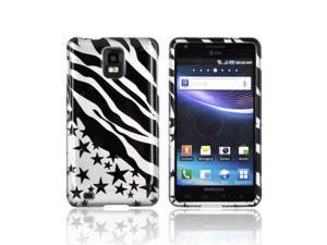 Slim & Protective Hard Case for Samsung Infuse i997 - Black Zebra Stars