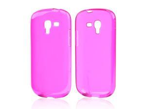 Samsung Galaxy Exhibit T599 Case, [Hot Pink] Slim & Flexible Anti-shock Crystal Silicone Protective TPU Gel Skin Case