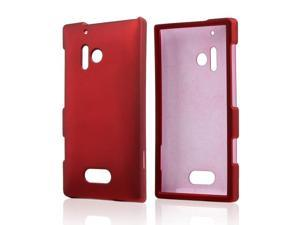 Nokia Lumia 928 Case, [Red] Slim & Protective Rubberized Matte Finish Snap-on Hard Polycarbonate Plastic Case Cover