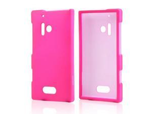 Nokia Lumia 928 Case, [Hot Pink] Slim & Protective Rubberized Matte Finish Snap-on Hard Polycarbonate Plastic Case Cover