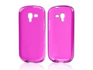 Samsung Galaxy Exhibit T599 Case, [Purple] Slim & Flexible Anti-shock Crystal Silicone Protective TPU Gel Skin Case