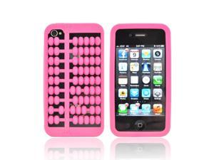 AT&T/ Verizon Apple iPhone 4  iPhone 4S Silicone Case - Hot Pink Abacus