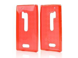 Argyle Red Crystal Rubbery Feel Silicone Skin Case Cover For Nokia Lumia 928