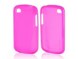 Hot Pink Rubbery Feel Silicone Skin Case Cover For Blackberry Q10
