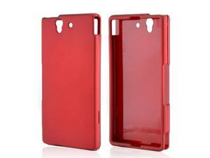 Sony Xperia Z Case, [Red] Slim & Protective Rubberized Matte Finish Snap-on Hard Polycarbonate Plastic Case Cover