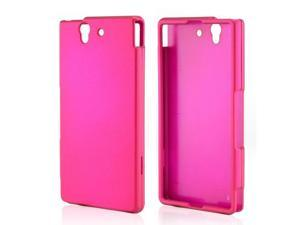 Sony Xperia Z Case, [Rose Pink] Slim & Protective Rubberized Matte Finish Snap-on Hard Polycarbonate Plastic Case Cover