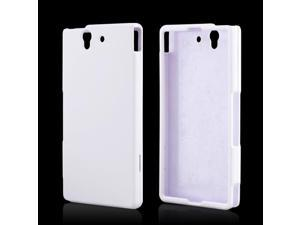 Sony Xperia Z Case, [White] Slim & Protective Rubberized Matte Finish Snap-on Hard Polycarbonate Plastic Case Cover