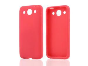 Red Rubbery Feel Silicone Skin Case Cover For LG Optimus G Pro