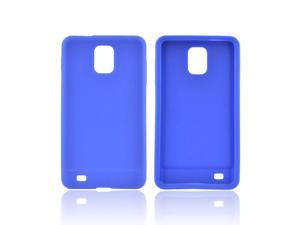 Samsung Infuse I997 Rubbery Feel Silicone Skin Case Cover - Blue