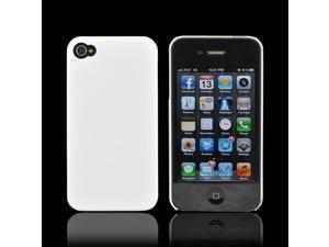 AT&t/ Vzw Apple Iphone 4, Iphone 4s Slim Hard Back Cover - Solid White