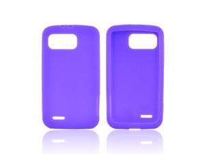 Motorola Atrix 2 Rubbery Feel Silicone Skin Case Cover - Purple
