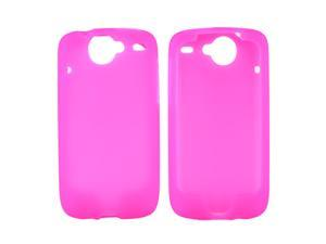 Google Nexus One Rubbery Feel Silicone Skin Case Cover, Rubber Skin - Hot Pink