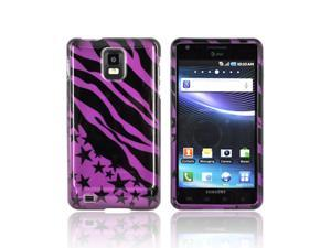 Slim & Protective Hard Case for Samsung Infuse i997 - Purple / Black Zebra Stars