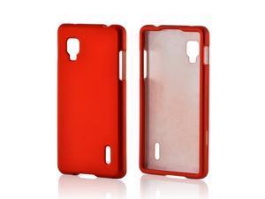 Orange Rubberized Hard Plastic Case Snap On Cover For LG Optimus G (sprint)