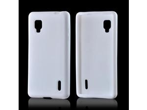 Rubbery Feel Silicone Skin Case Cover White For LG Optimus G Sprint