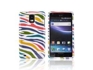 Samsung Infuse 4G Case, [Rainbow Zebra] Slim & Protective Crystal Glossy Snap-on Hard Polycarbonate Plastic Case Cover