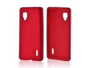 Rubbery Feel Silicone Skin Case Cover Red For LG Optimus G Sprint