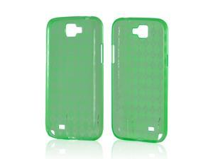 Samsung Galaxy Note 2 Case, [Green] Slim & Flexible Anti-shock Crystal Silicone Protective TPU Gel Skin Case Cover