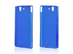 Sony Xperia Z Case, [Blue] Slim & Flexible Anti-shock Crystal Silicone Protective TPU Gel Skin Case Cover