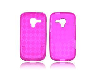 Samsung Exhilarate i577 Case, [Purple] Slim & Flexible Anti-shock Crystal Silicone Protective TPU Gel Skin Case Cover