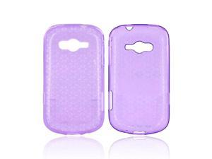 Samsung Galaxy Reverb Case, [Purple] Slim & Flexible Anti-shock Crystal Silicone Protective TPU Gel Skin Case Cover