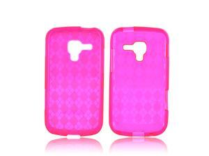 Samsung Exhilarate i577 Case, [Pink] Slim & Flexible Anti-shock Crystal Silicone Protective TPU Gel Skin Case Cover
