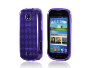 Samsung Galaxy Stellar Case, [Purple] Slim & Flexible Anti-shock Crystal Silicone Protective TPU Gel Skin Case Cover