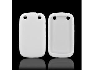 Blackberry Curve 9310/9320 Rubbery Feel Silicone Skin Case Cover - White