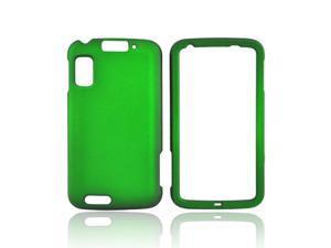 Green Rubberized Hard Plastic Snap On Case Cover For Motorola Atrix 4G