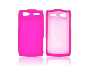 Motorola Xt881 Rubberized Hard Plastic Case Snap On Cover - Hot Pink