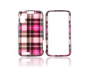 Slim & Protective Hard Case for Motorola Atrix 4G - Hot Pink / Brown Plaid