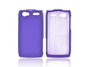 Motorola Xt881 Rubberized Hard Plastic Case Snap On Cover - Purple