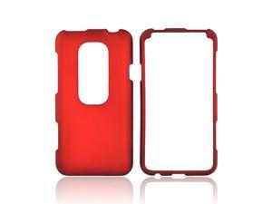 Orange Rubberized Hard Plastic Snap On Case Cover For HTC EVO 3D