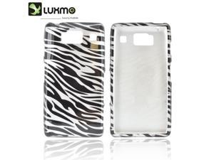 Slim & Protective Hard Case for Motorola Droid RAZR HD - Silver / Black Zebra