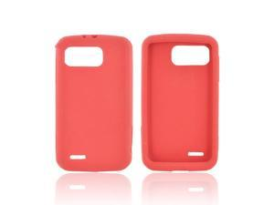 Red Rubbery Feel Silicone Skin Case Cover For Motorola Atrix 2