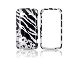 Slim & Protective Hard Case for HTC Sensation 4G - Silver / Black Zebra