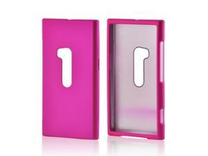 Nokia Lumia 920 Case, [Hot Pink] Slim & Protective Rubberized Matte Finish Snap-on Hard Polycarbonate Plastic Case Cover